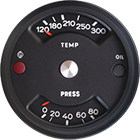 North Hollywood Speedometer | Convert temp. gauge to numerals and lower brake light to a pressure gauge